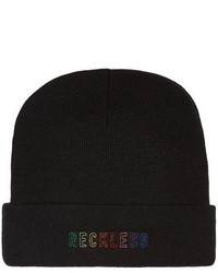 Topman Black Reckless Beanie