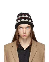 Saint Laurent Black Small Knit Beanie