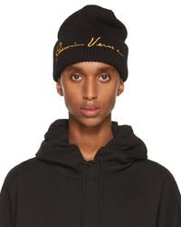 Versace Black Yellow Gv Signature Beanie