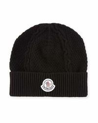 Moncler Cable Knit Cashmere Beanie Hat