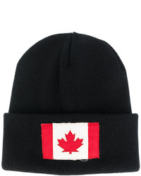 DSQUARED2 Canadian Flag Patch Beanie Hat