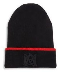 Alexander McQueen Cashmere Blend Ribbed Beanie