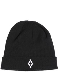 Marcelo Burlon County of Milan Cruz Embroidered Wool Knit Beanie Hat