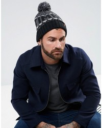 57dec48dd5d Timberland Ribbed Beanie  16  24 · Timberland Large Logo Bobble Beanie In  Blackgray