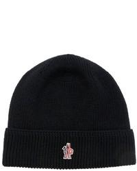 Moncler Logo Detail Wool Beanie Hat