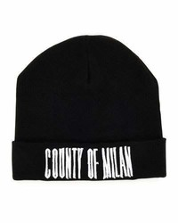 Marcelo Burlon County of Milan Marcelo Burlon Sajama County Of Milan Wool Beanie Blackwhite