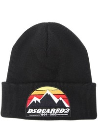 DSQUARED2 Mountain Patch Wool Knit Beanie Hat