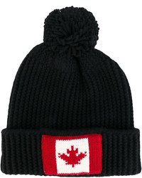 DSQUARED2 Pompom Knitted Beanie Hat