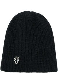 The Elder Statesman Ribbed Embroidered Beanie