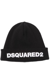 DSQUARED2 Wool Beanie Hat W Logo