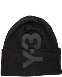 Yohji Yamamoto Y 3 Logo Beanie In Black