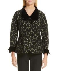 Emporio Armani Abstract Jacquard Peplum Jacket