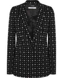 Givenchy Blazer In Printed Stretch Crepe Black