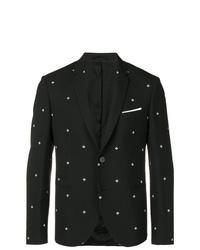 Neil Barrett Cross Print Formal Blazer