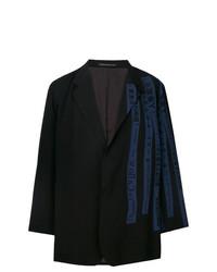 Yohji Yamamoto Print Detail Oversized Blazer