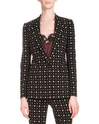 Givenchy Printed One Button Cady Blazer Black