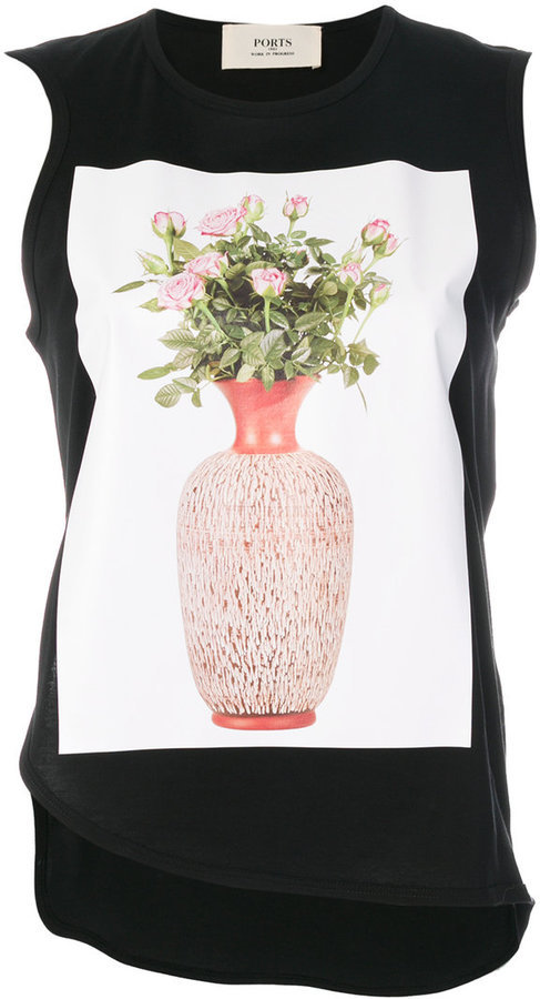 Ports 1961 Ports 1961 Flower And Vase Print Top Where To Buy How