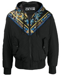 VERSACE JEANS COUTURE Baroque Print Hooded Jacket