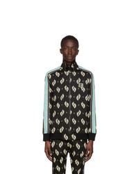 Kenzo Black Ikat Jacquard Track Jacket