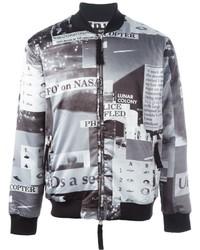 Blood brother police print bomber jacket medium 640784