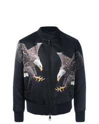Neil Barrett Eagle Print Bomber Jacket Black