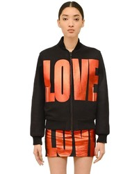 Givenchy Love Printed Felted Wool Bomber Jacket