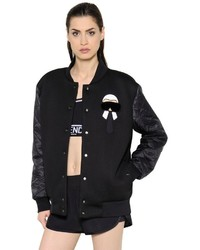 Fendi Karl Print Fur Neoprene Bomber Jacket
