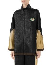 Gucci Metallic Crepe Kimono Jacket