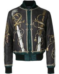 Dolce & Gabbana Sword Print Bomber Jacket