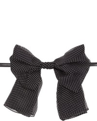 Saint Laurent Chiffon Bow Tie Multi