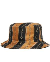 Black Print Bucket Hat