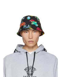 Versace Black Floral Bucket Hat
