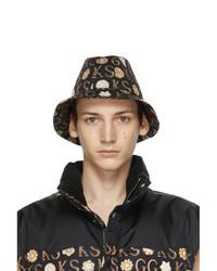Gucci Black Ken Scott Edition Floral Bucket Hat