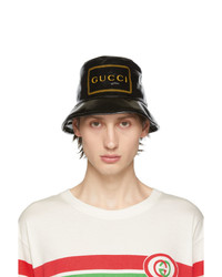 Gucci Black Montecarlo Crystal Bucket Hat