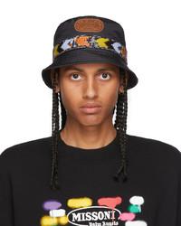 Palm Angels Black Multicolor Missoni Edition Heritage Bucket Hat