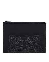 Kenzo Black Large Tiger Pouch