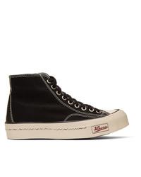 Visvim Black Skagway Hi Patten Sneakers