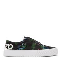 Kenzo Black Sea Lily K Skate Sneakers