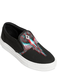 Marcelo Burlon County of Milan Lauren Printed Canvas Slip On Sneakers