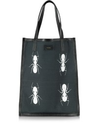 Paul Smith Black And White Ants Print Tote Bag