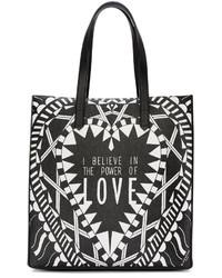... Givenchy Black White Medium Power Of Love Tote 06175ef663218