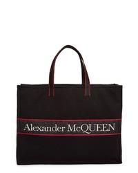 Alexander McQueen City Selvedge Logo Eastwest Tote