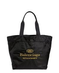 Balenciaga Embroidered Hotel Logo Nylon Tote