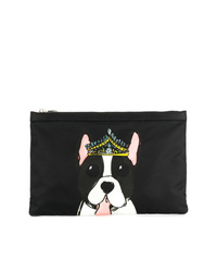 Dolce & Gabbana Dog Print Clutch Bag