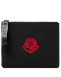 Moncler Logo Appliqud Canvas Pouch