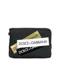 Dolce & Gabbana Multiple Logo Stripe Clutch