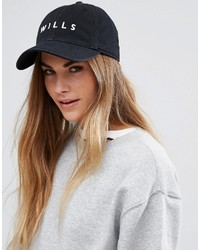 Jack Wills Baseball Cap In Black