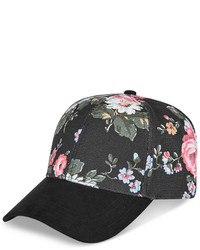 Collection XIIX Floral And Faux Suede Baseball Cap