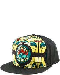 Crooks & Castles Crooks And Castles The Hood Pope Snapback Hat In Black Multi