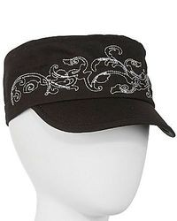 Scala Embroidered Cadet Cap